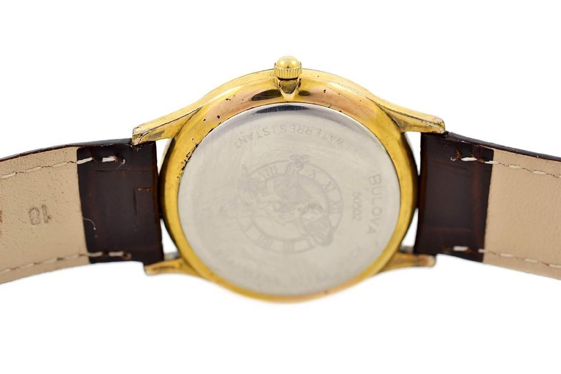 Vintage Bulova Classic Gold Plated Midsize Quartz Watch - 4