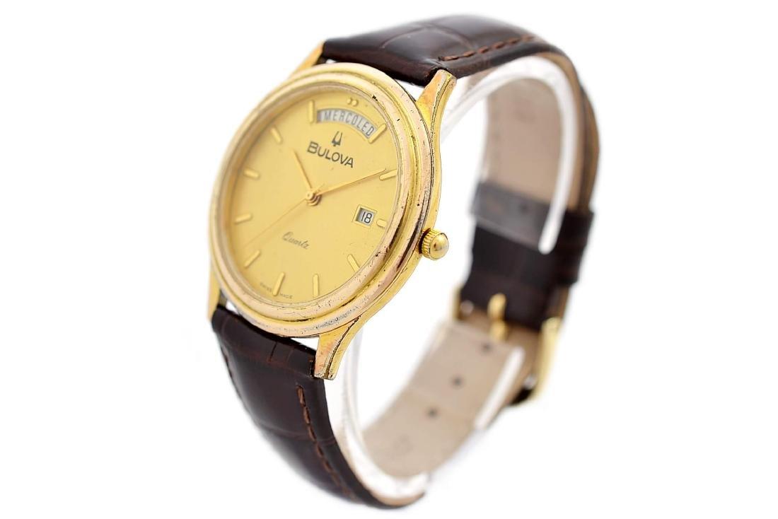 Vintage Bulova Classic Gold Plated Midsize Quartz Watch - 7