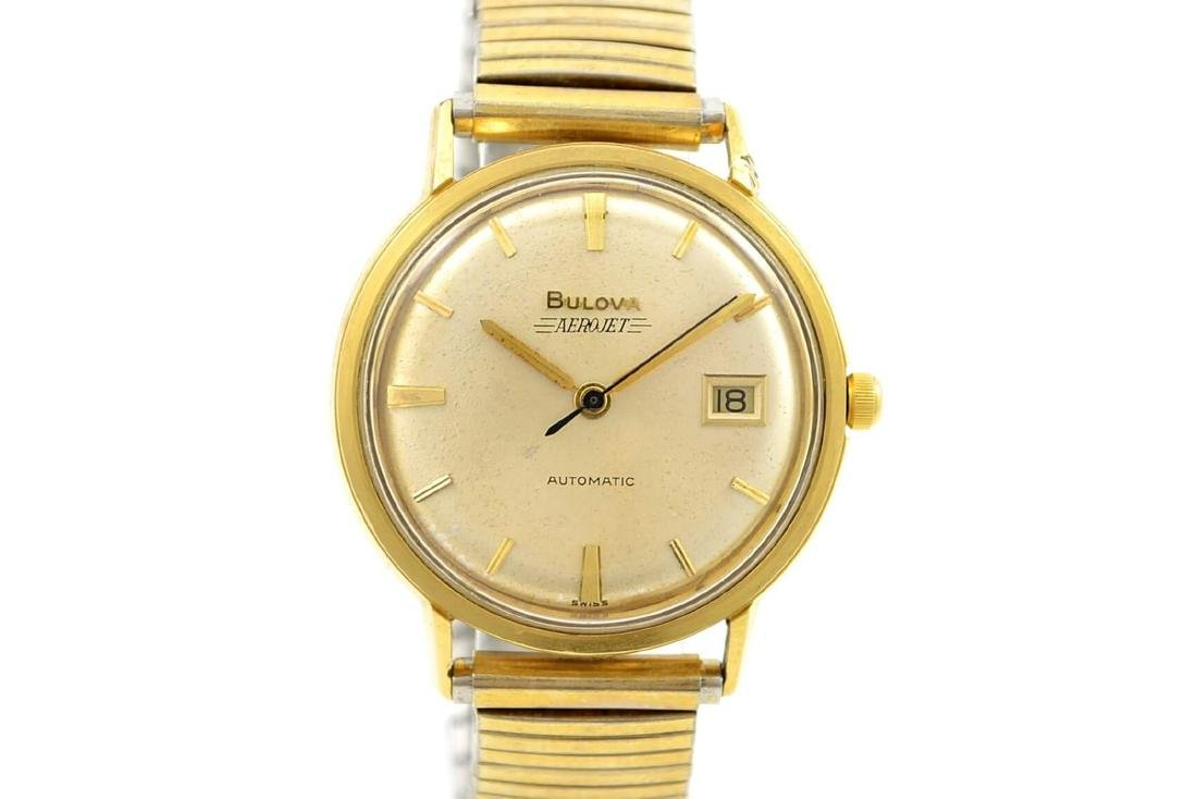 Vintage Bulova Aerojet Gold Plated Automatic Mens Watch
