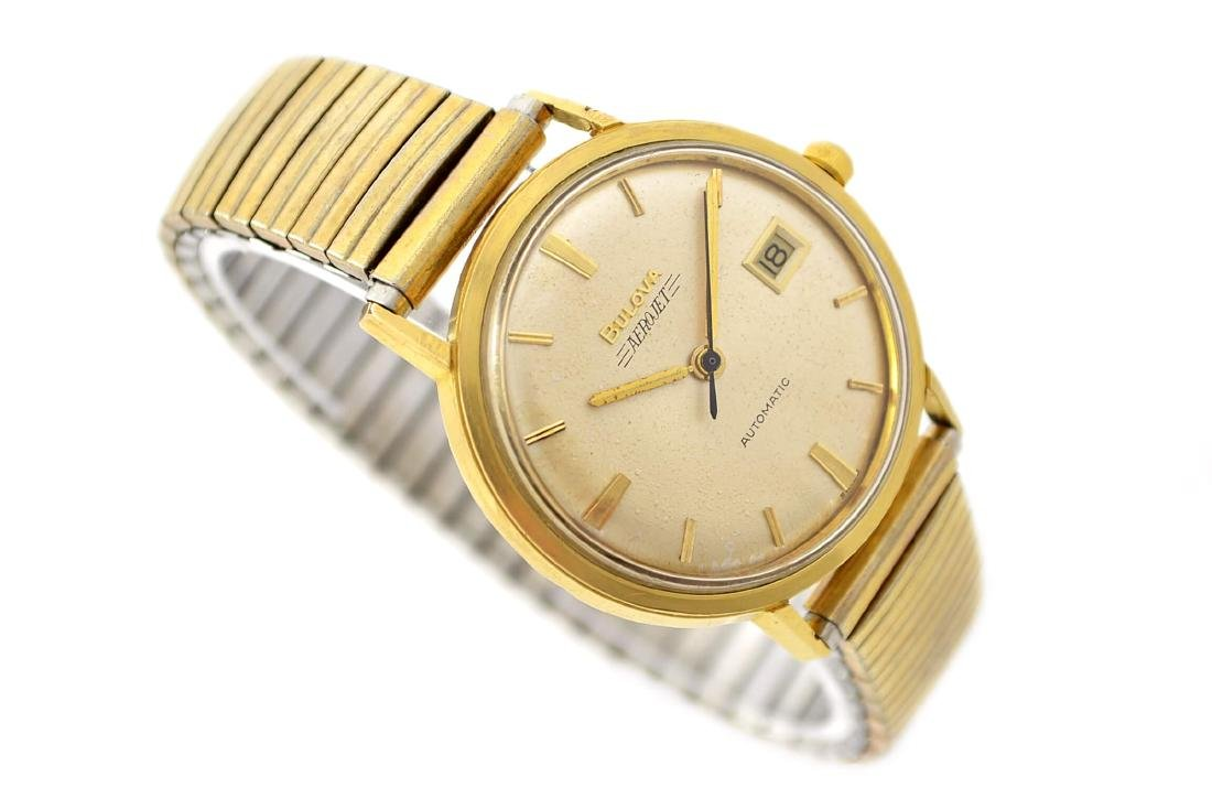 Vintage Bulova Aerojet Gold Plated Automatic Mens Watch - 3