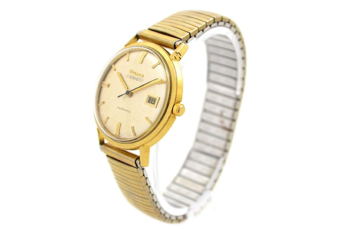 Vintage Bulova Aerojet Gold Plated Automatic Mens Watch - 7