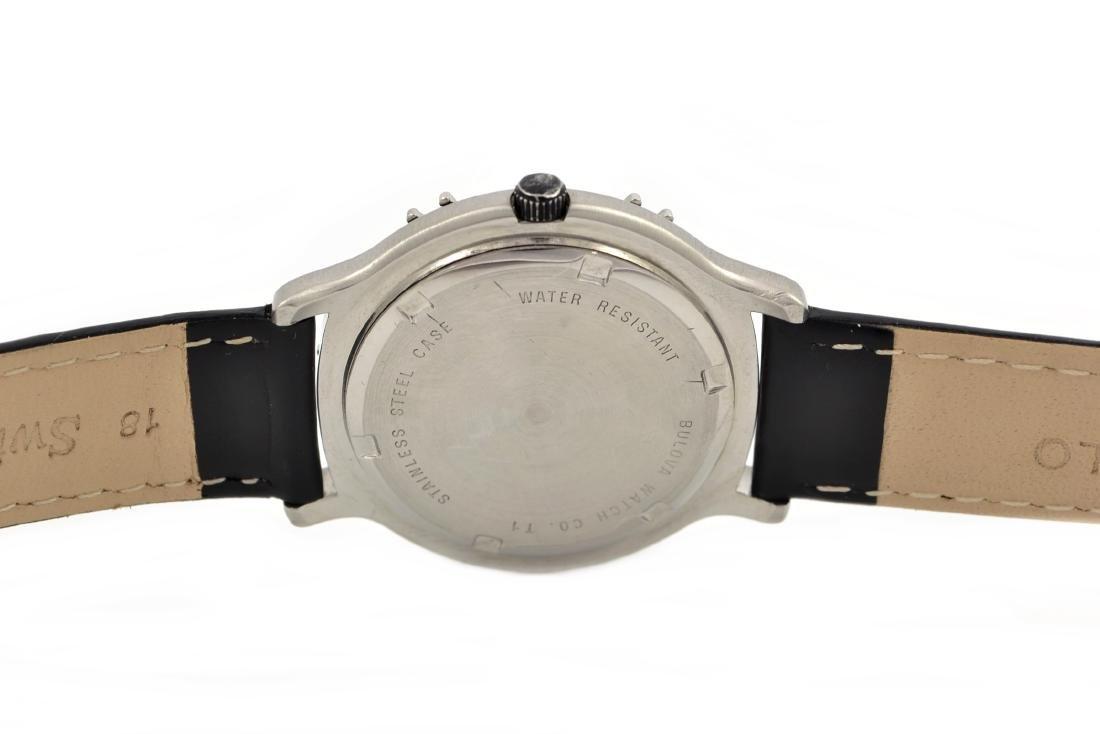 Vintage Bulova Marine Star Mens Stainless Steel Quartz - 4