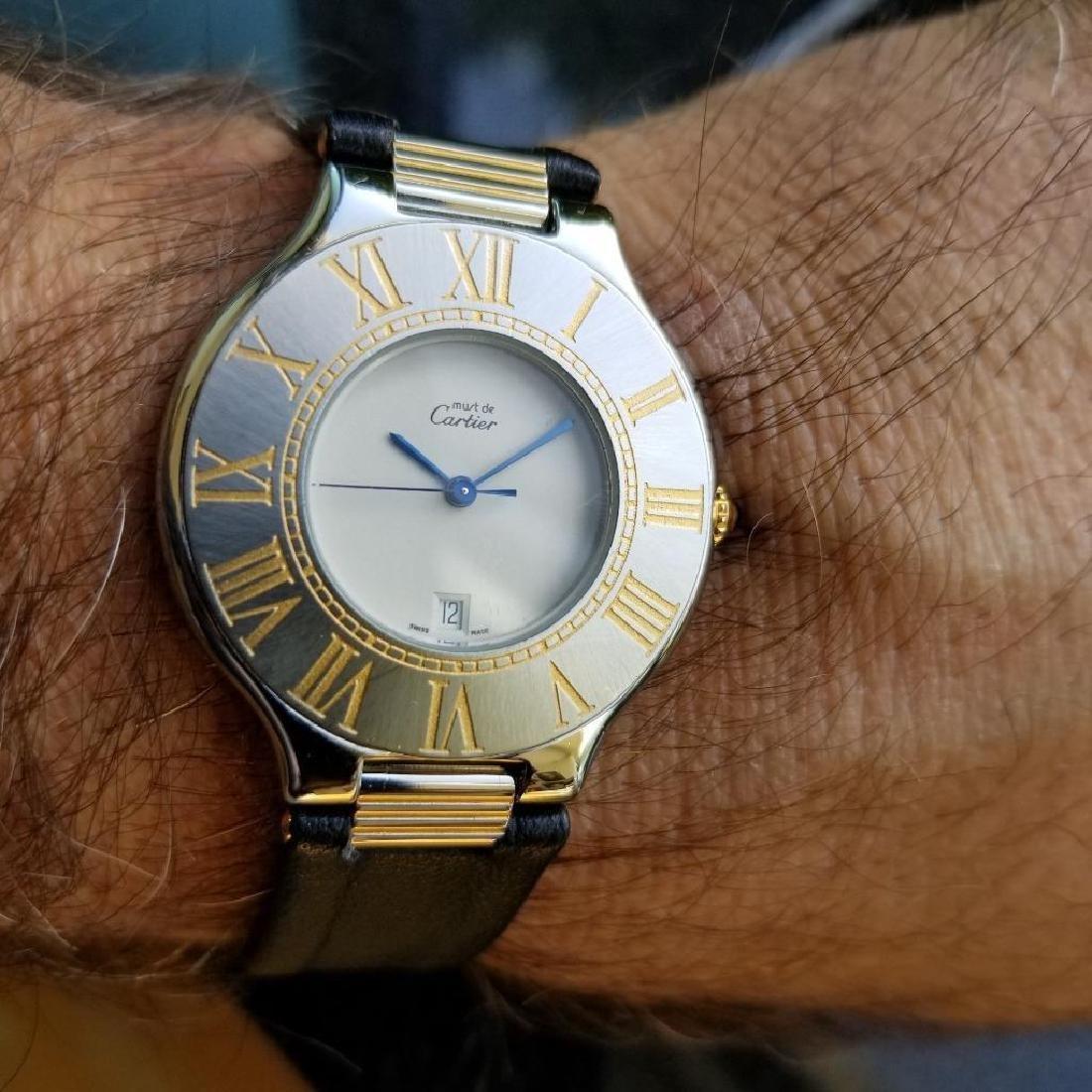 Cartier Must de Cartier 21 34mm c2000 Swiss Luxury Mens - 10