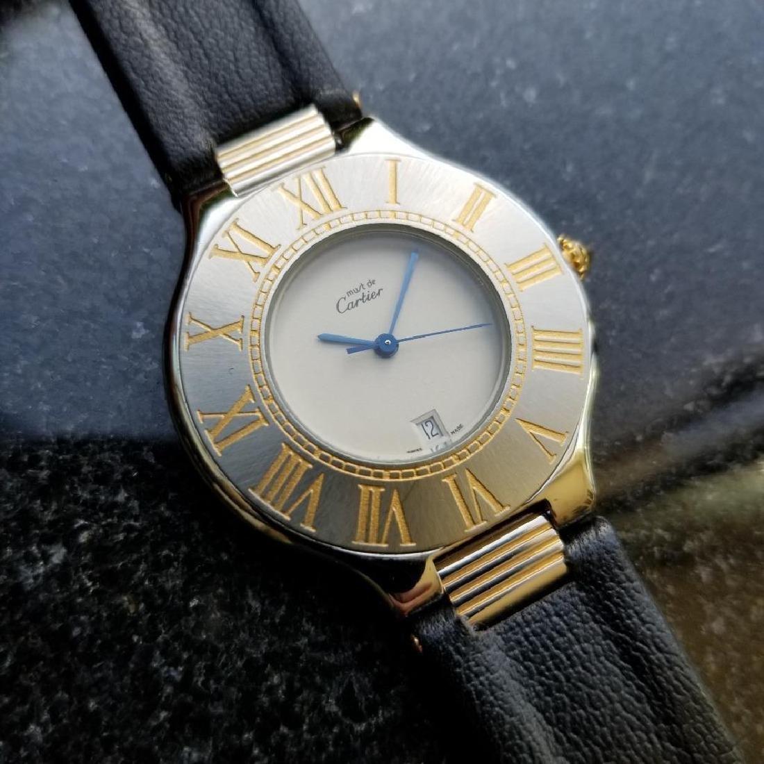 Cartier Must de Cartier 21 34mm c2000 Swiss Luxury Mens - 2