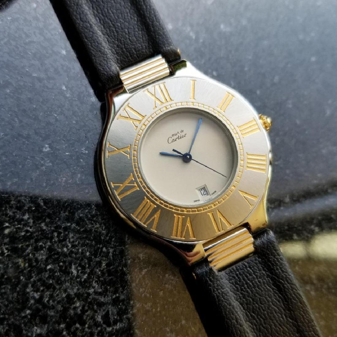 Cartier Must de Cartier 21 34mm c2000 Swiss Luxury Mens - 3