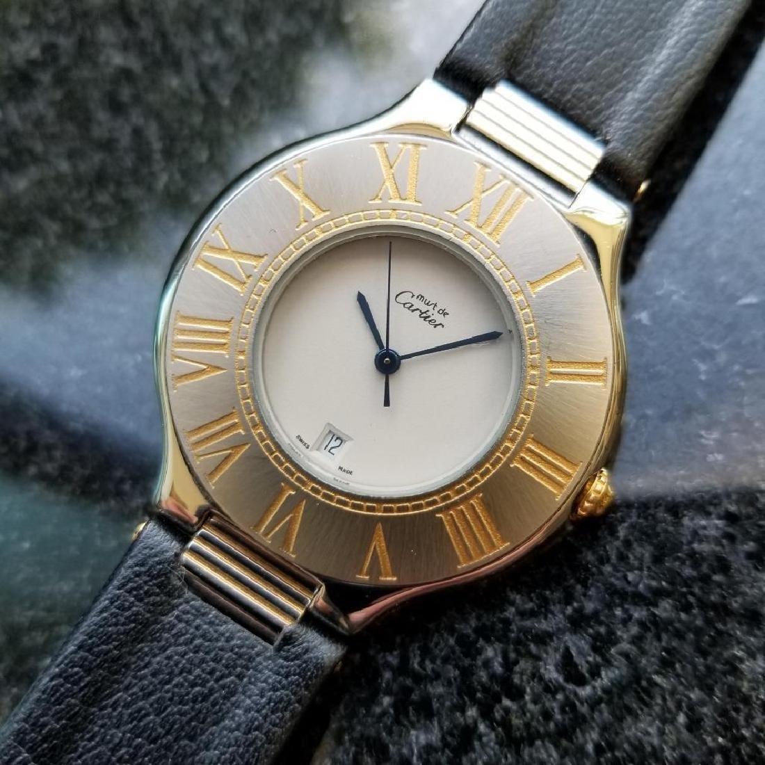 Cartier Must de Cartier 21 34mm c2000 Swiss Luxury Mens - 4