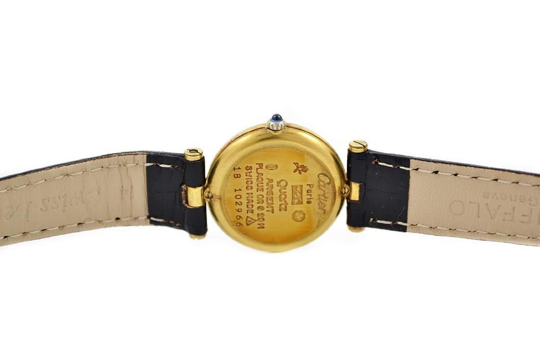 Vintage Cartier Vermeil 92.5 Gold Plated Quartz Ladies - 4