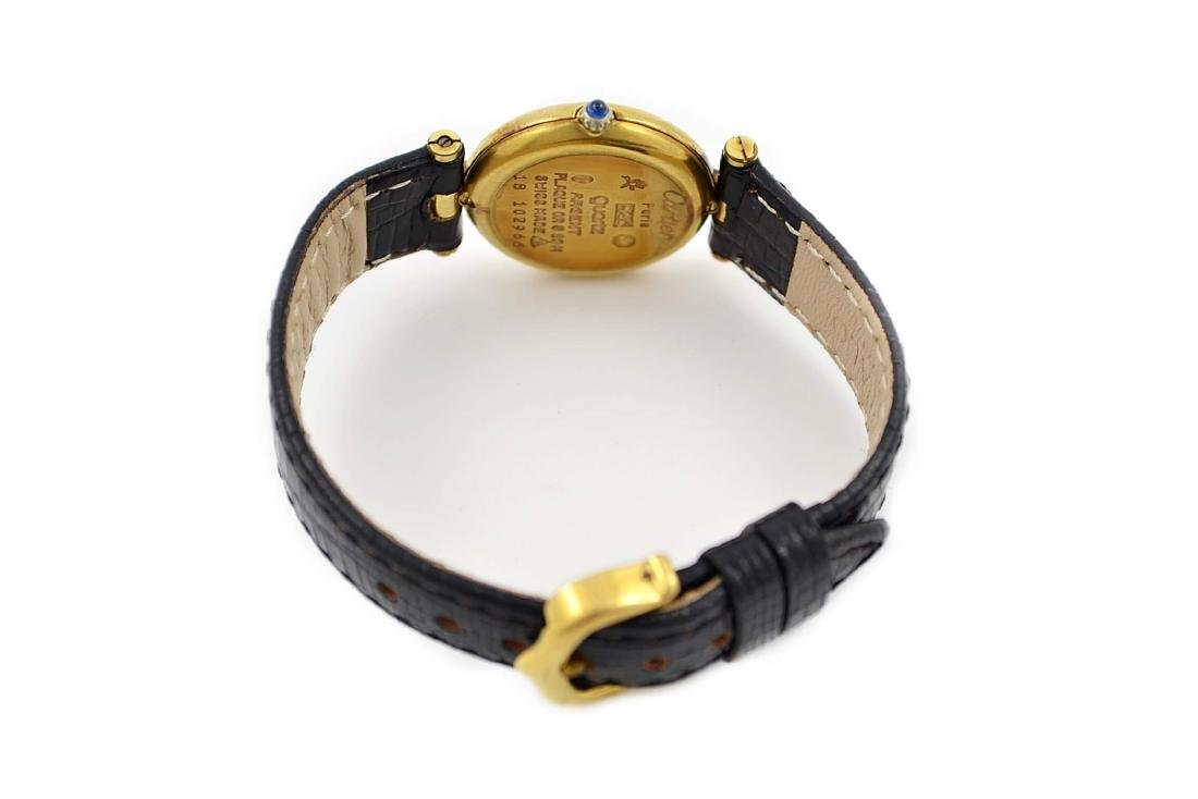 Vintage Cartier Vermeil 92.5 Gold Plated Quartz Ladies - 5