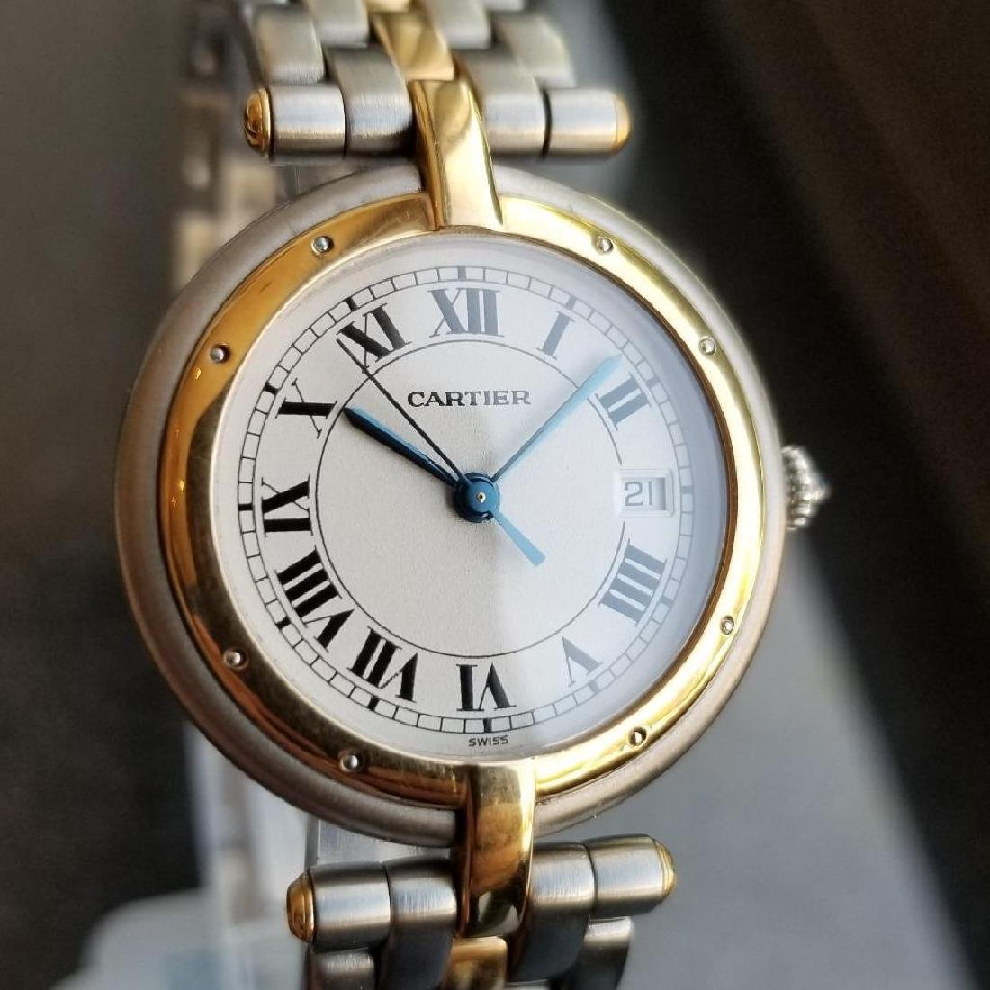 Cartier Panthere Round 1990s Unisex 18k Gold/SS Luxury