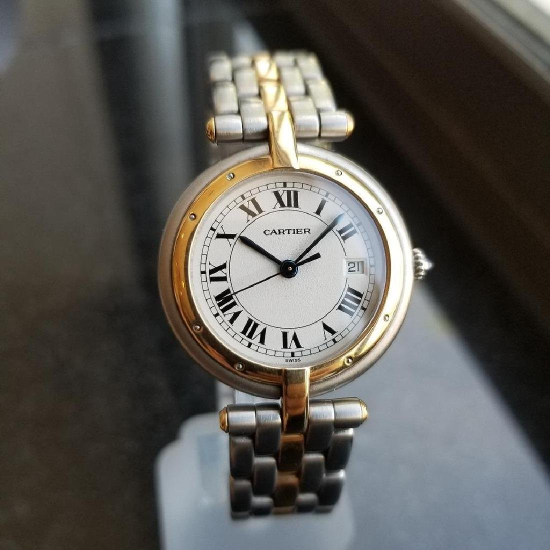 Cartier Panthere Round 1990s Unisex 18k Gold/SS Luxury - 2