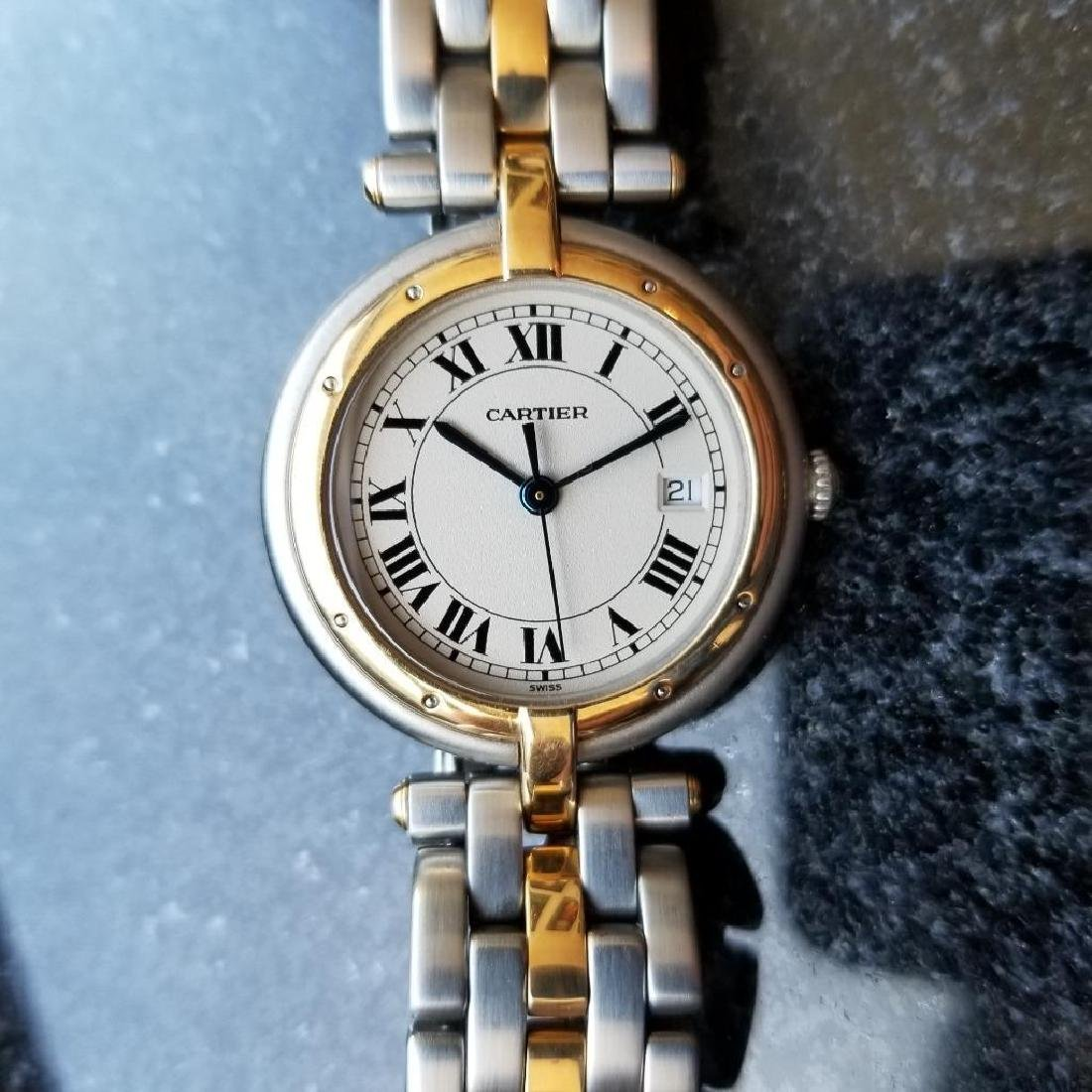 Cartier Panthere Round 1990s Unisex 18k Gold/SS Luxury - 3