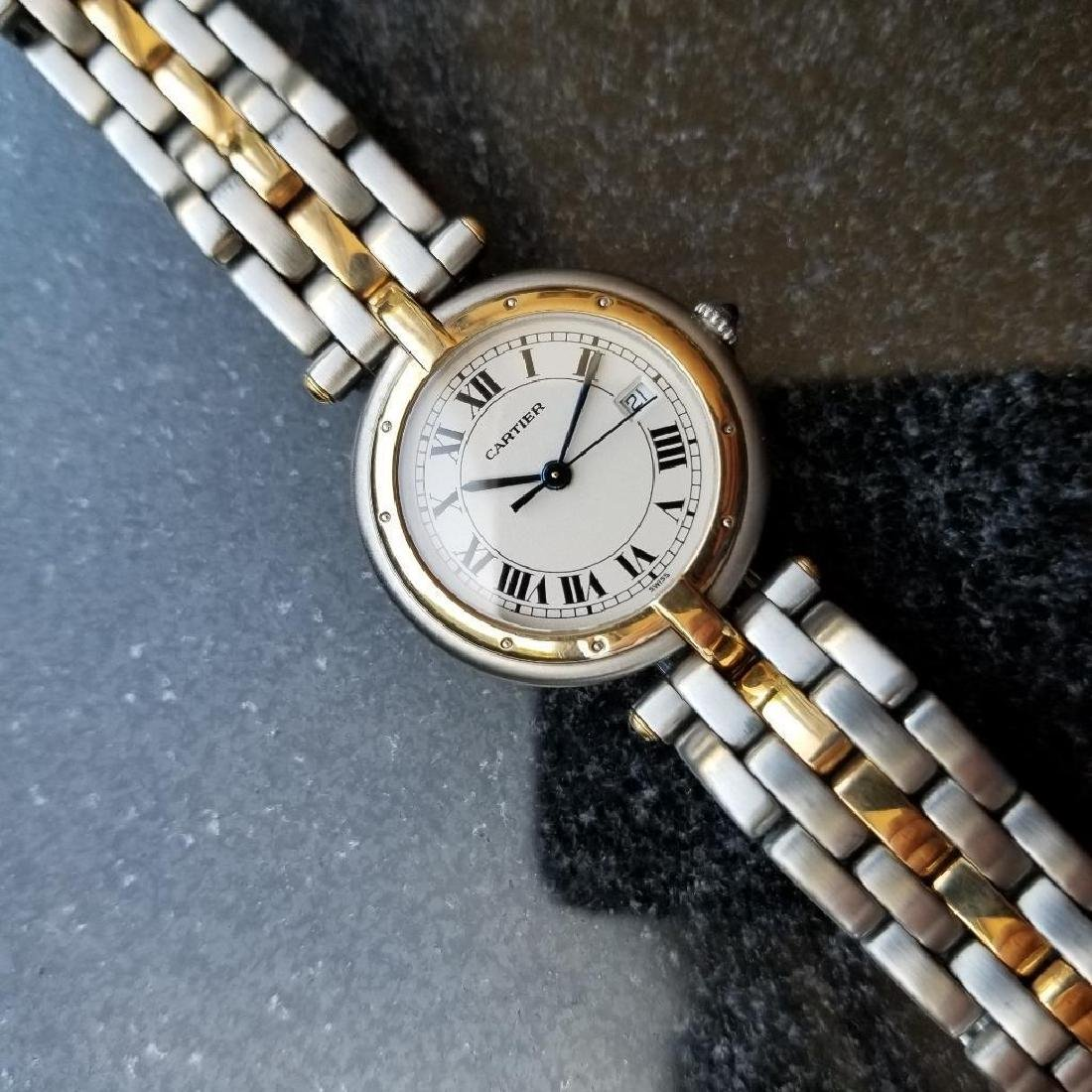 Cartier Panthere Round 1990s Unisex 18k Gold/SS Luxury - 4