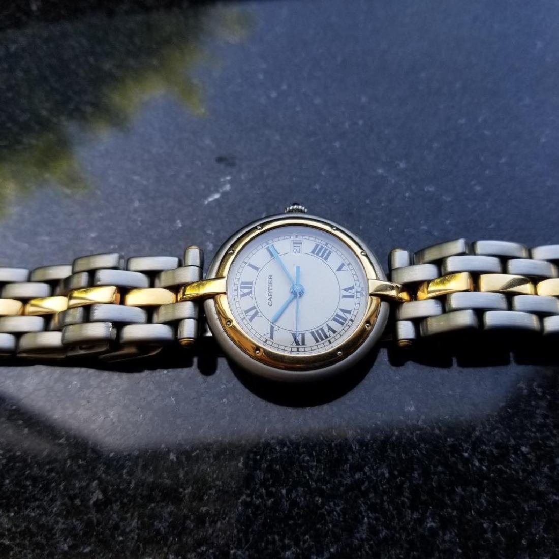 Cartier Panthere Round 1990s Unisex 18k Gold/SS Luxury - 5