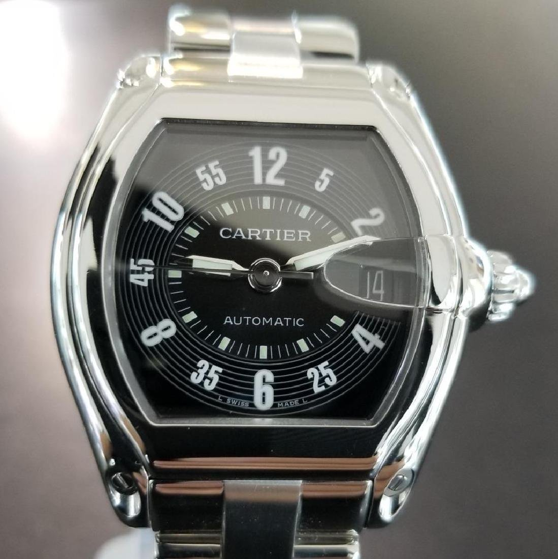 Cartier Roadster Mens Automatic Stainless 38mm Date