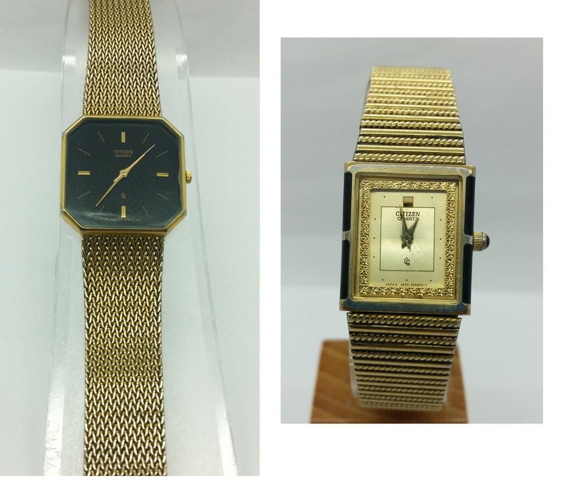lot of 2 pcs CiTiZEN ladies retro wristwatches
