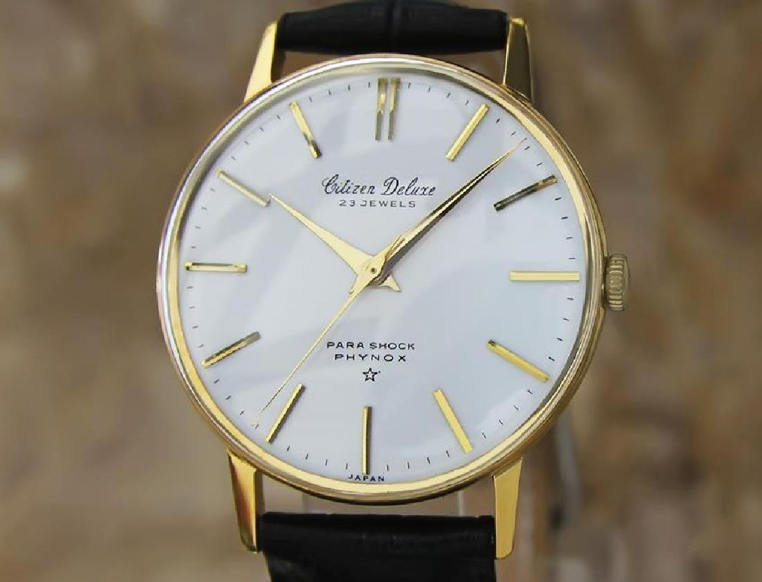 Citizen DeLuxe 1960s Mens Classic Gold Plated Manual