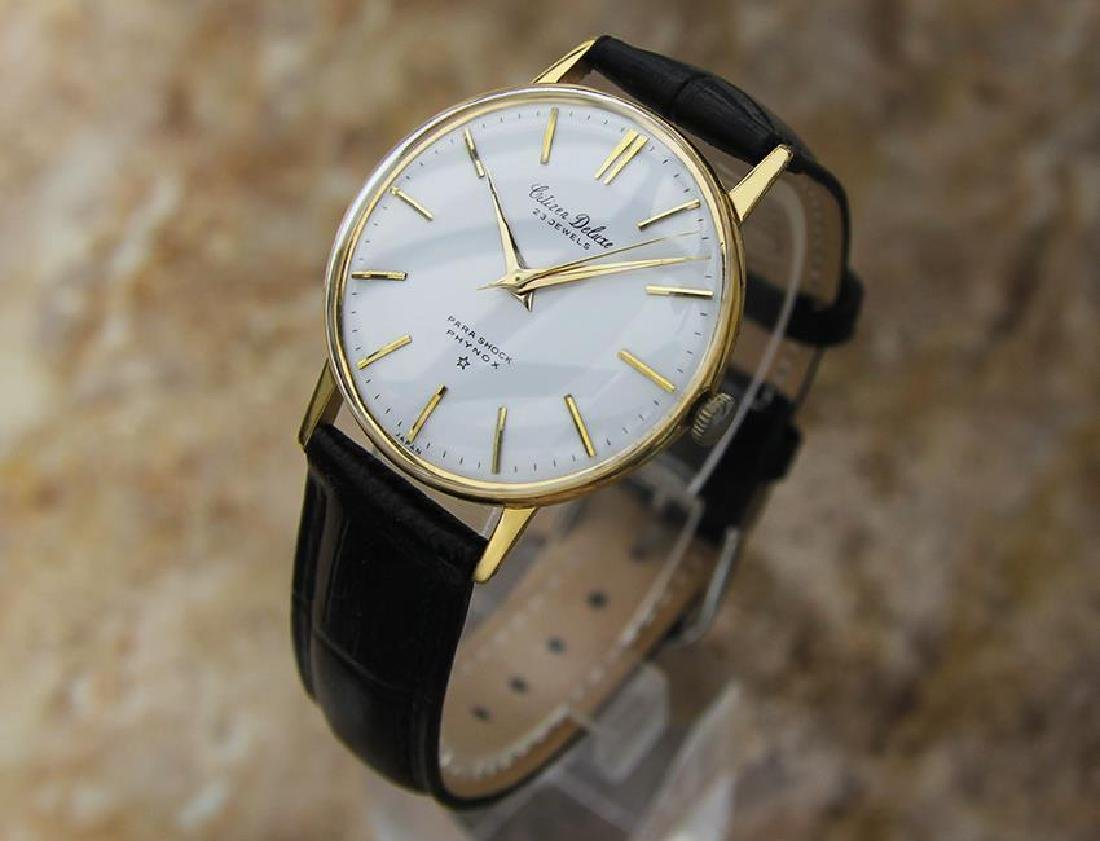 Citizen DeLuxe 1960s Mens Classic Gold Plated Manual - 2
