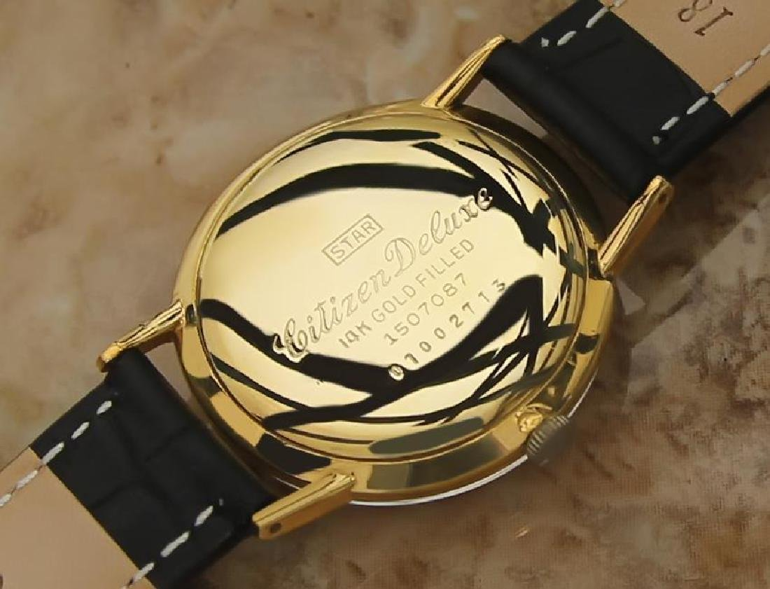 Citizen DeLuxe 1960s Mens Classic Gold Plated Manual - 7