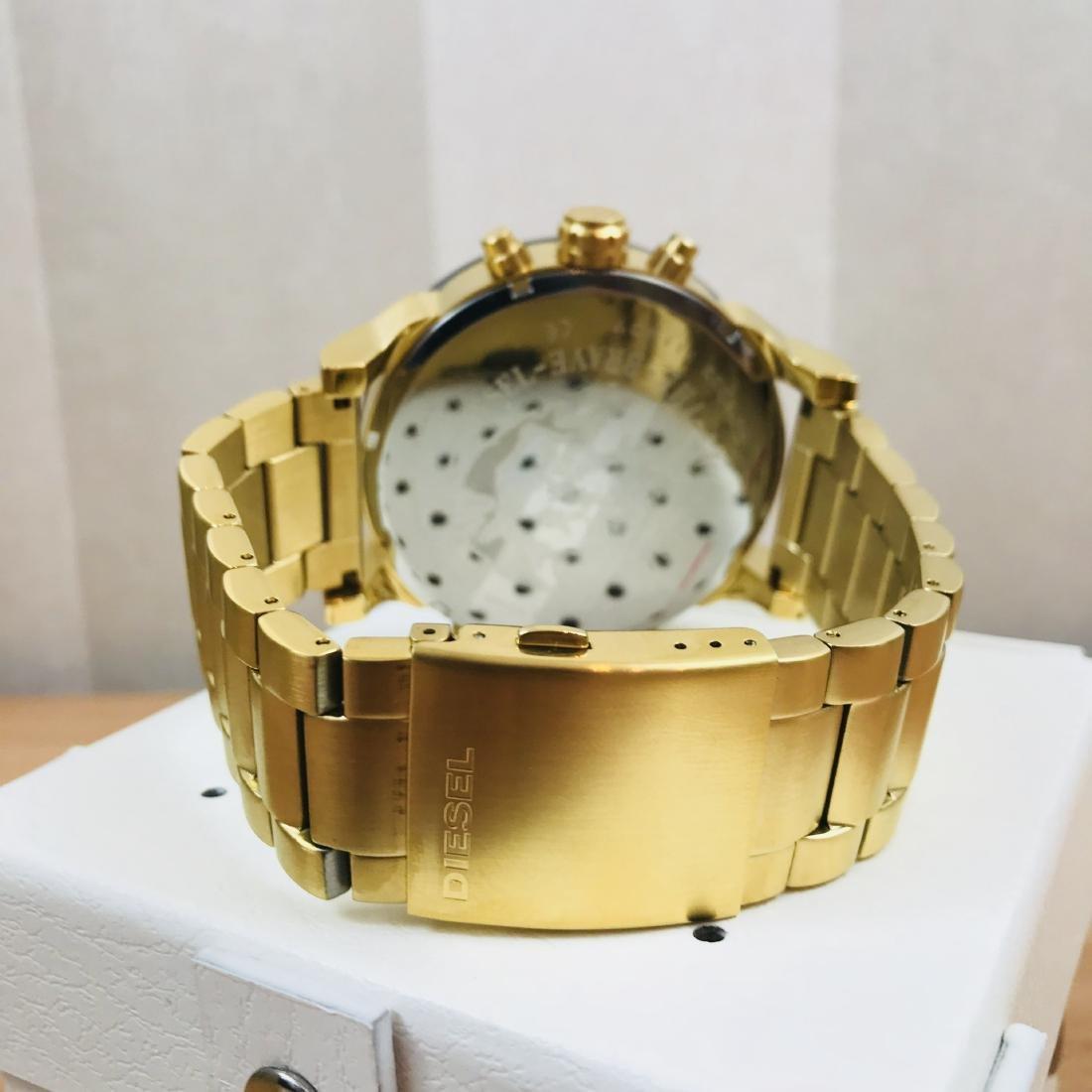 Diesel – Mr. Daddy 2.0 Big Gold Plated Watch - 3