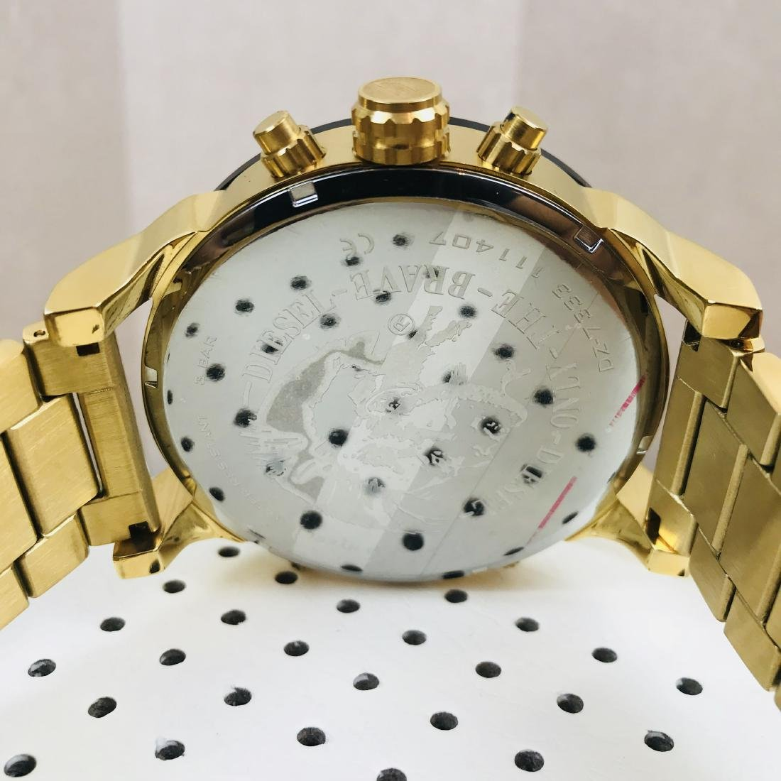 Diesel – Mr. Daddy 2.0 Big Gold Plated Watch - 4