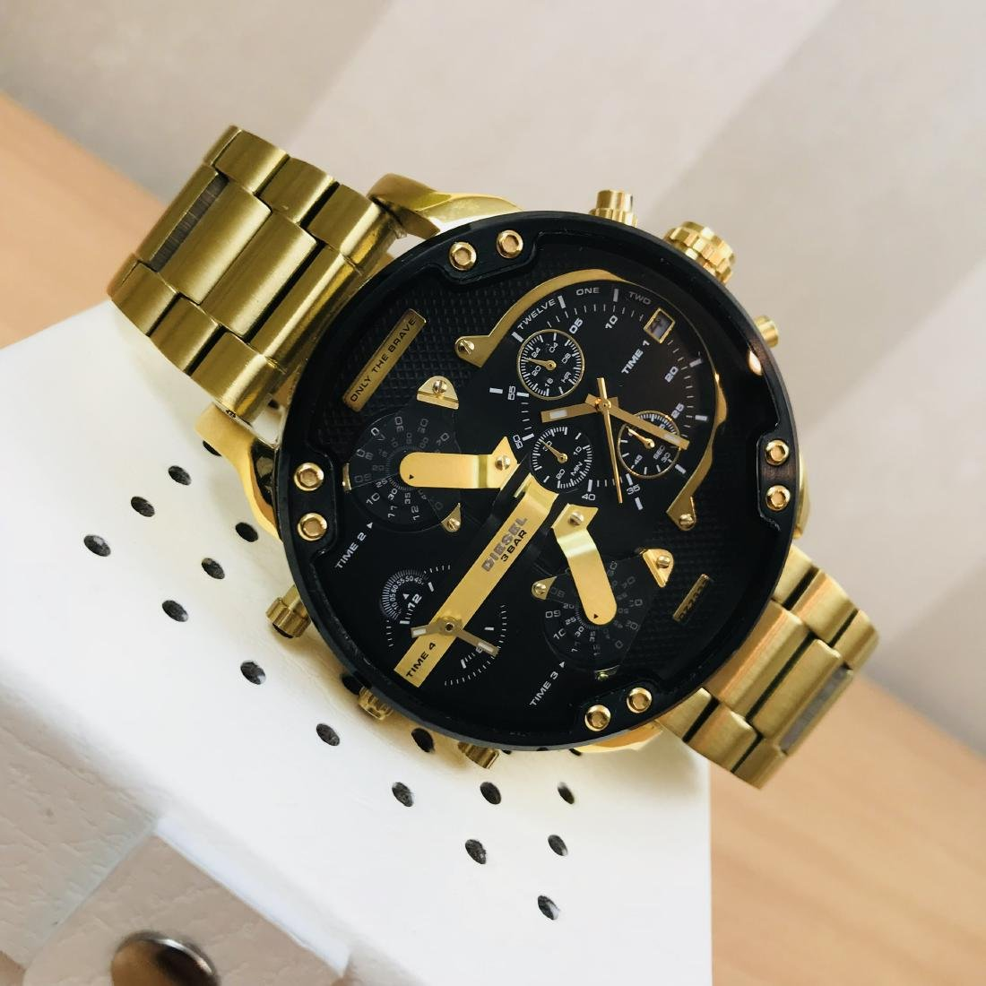 Diesel – Mr. Daddy 2.0 Big Gold Plated Watch - 7