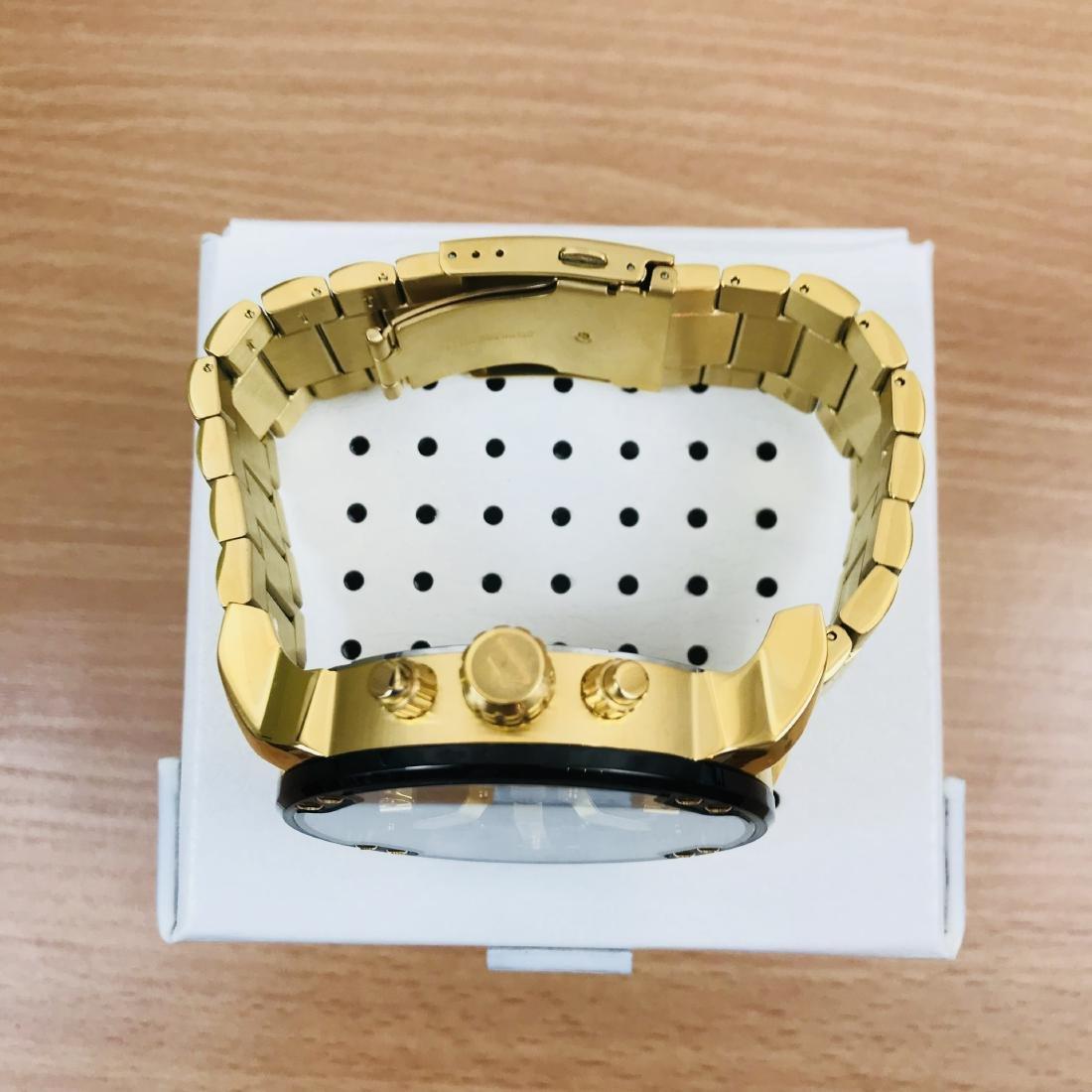 Diesel – Mr. Daddy 2.0 Big Gold Plated Watch - 8