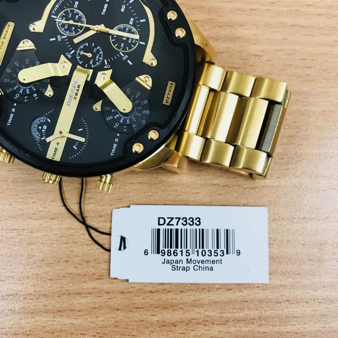 Diesel – Mr. Daddy 2.0 Big Gold Plated Watch - 9