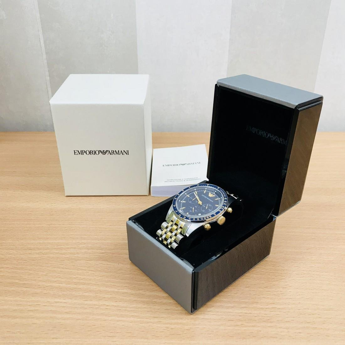 Emporio Armani – Two Tone Gold Plated Chronograph Watch - 9
