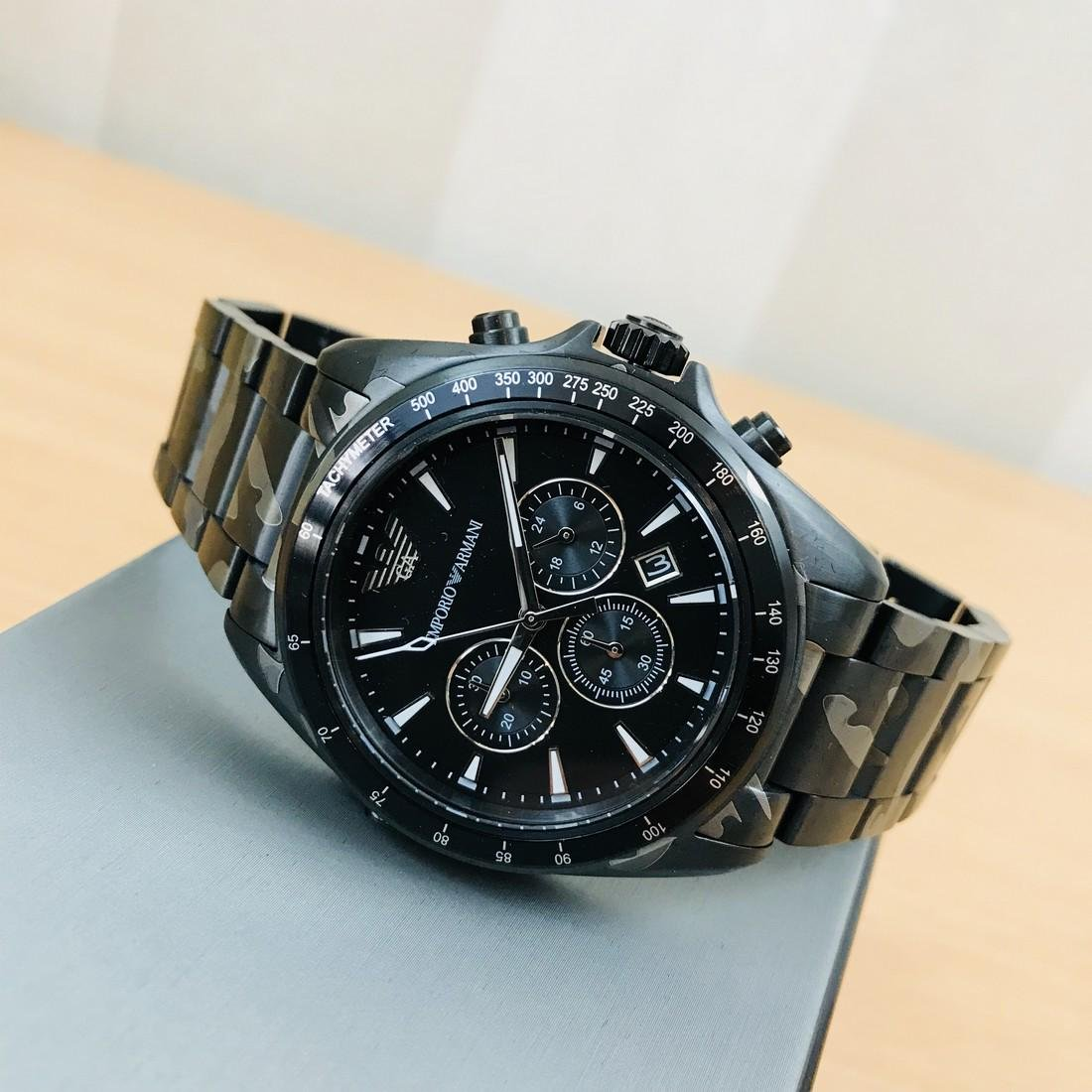 Emporio Armani – Camouflage-print Chronograph Watch