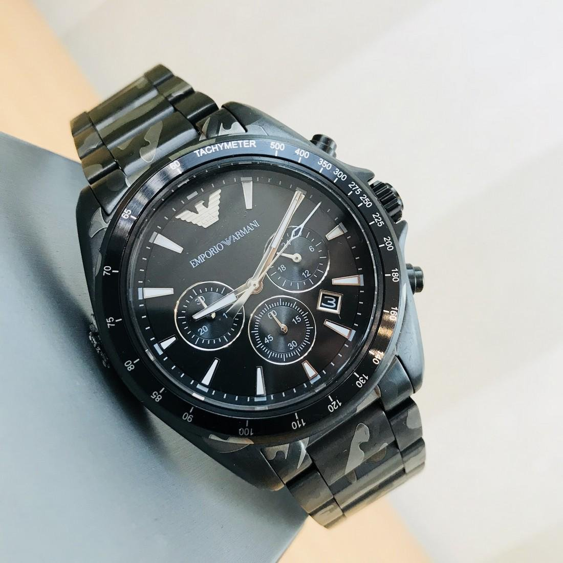 Emporio Armani – Camouflage-print Chronograph Watch - 2