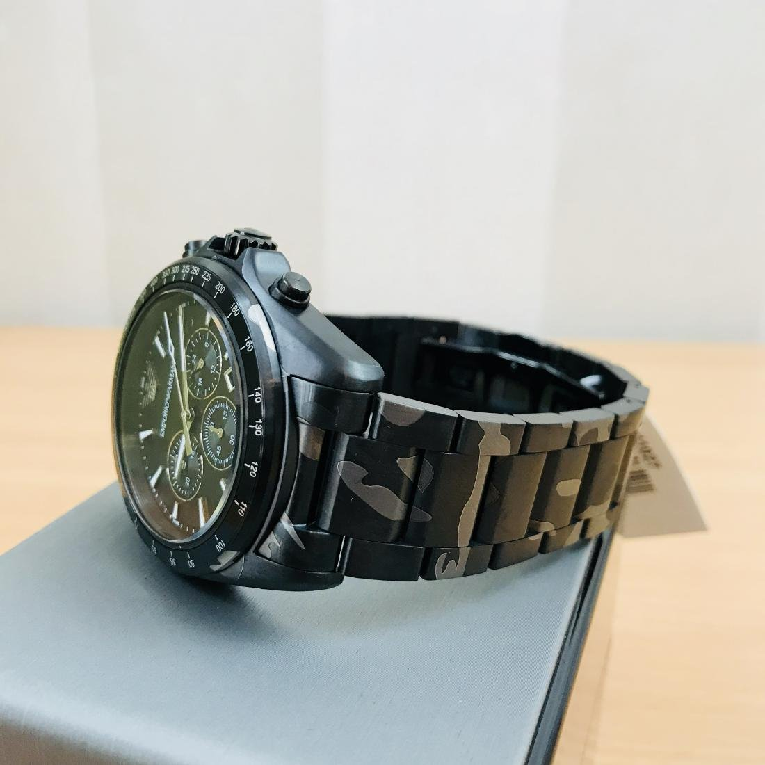 Emporio Armani – Camouflage-print Chronograph Watch - 3