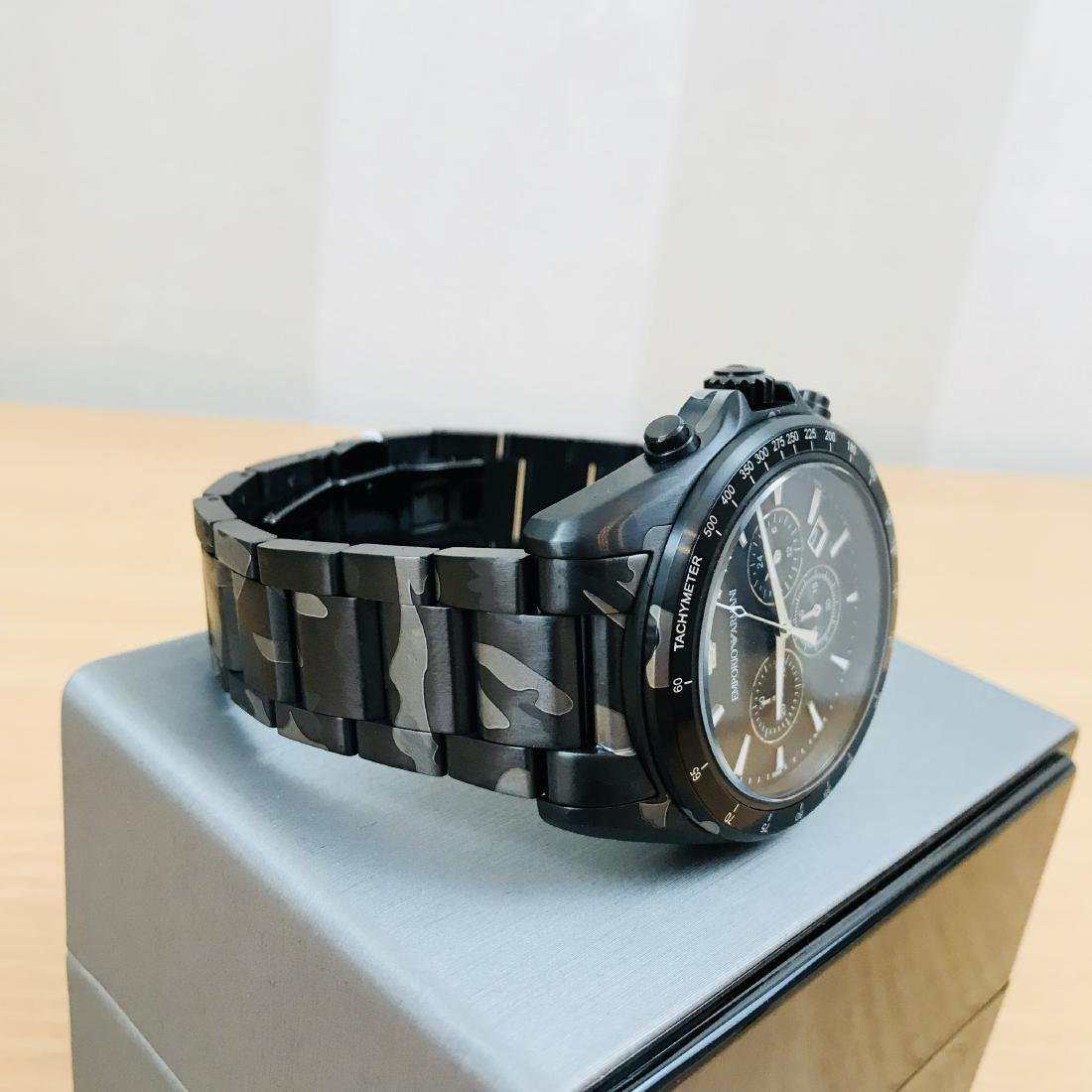 Emporio Armani – Camouflage-print Chronograph Watch - 6
