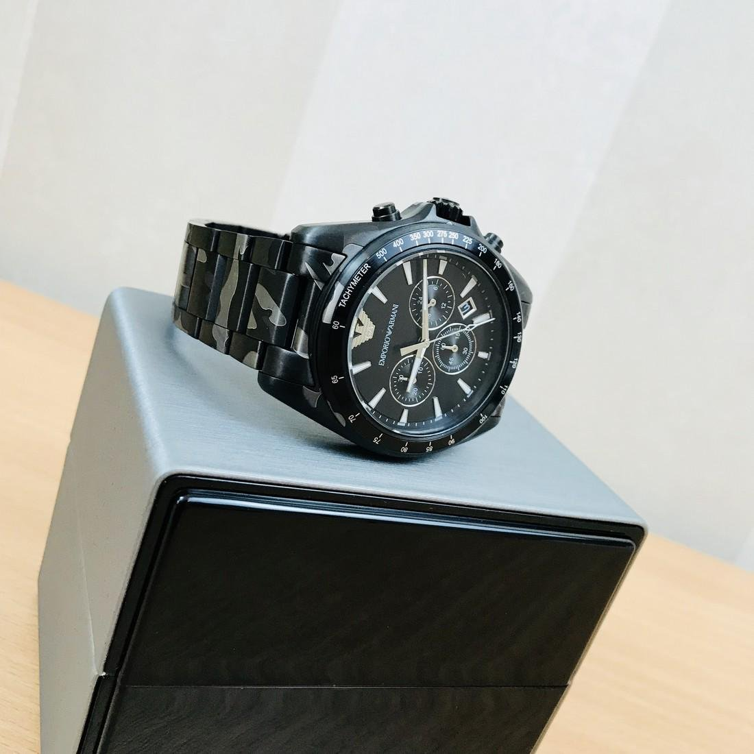 Emporio Armani – Camouflage-print Chronograph Watch - 7