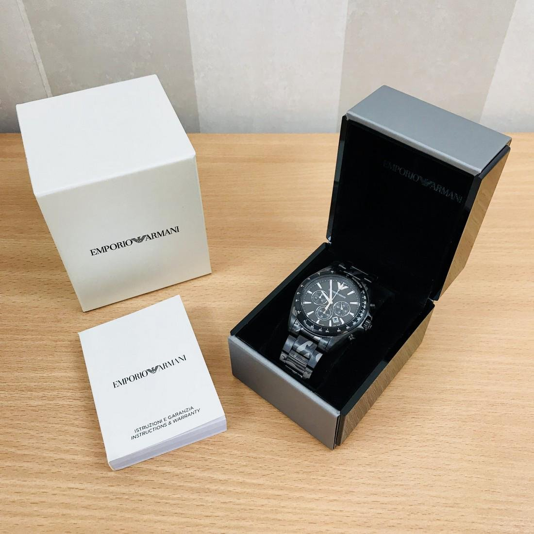 Emporio Armani – Camouflage-print Chronograph Watch - 9