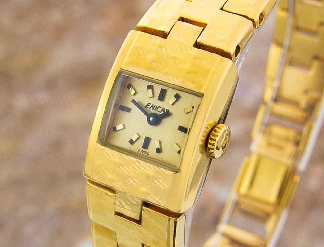 Enicar Vintage Rare Swiss Lady Gold Plated Manual