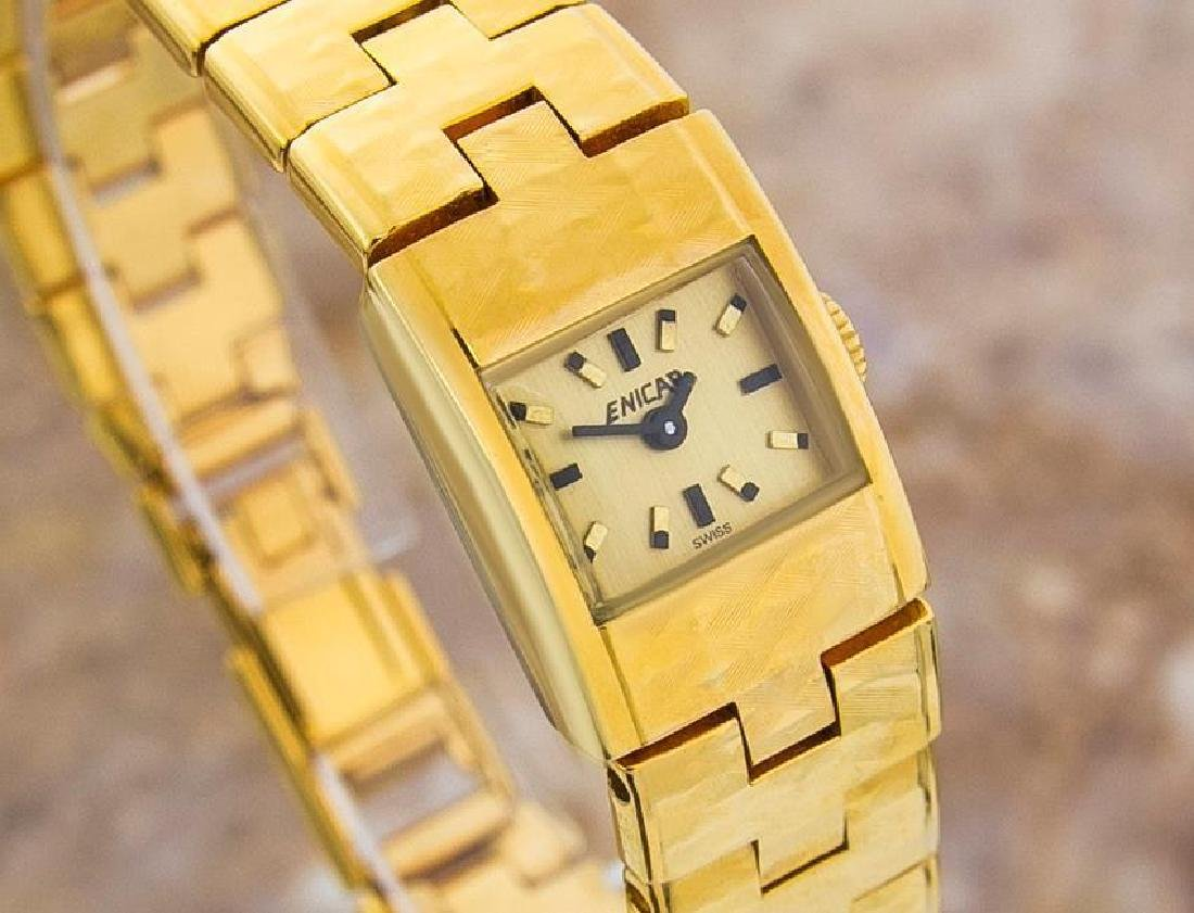 Enicar Vintage Rare Swiss Lady Gold Plated Manual - 2