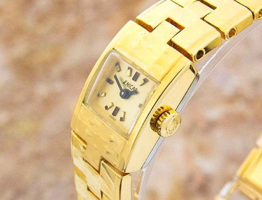Enicar Vintage Rare Swiss Lady Gold Plated Manual - 3