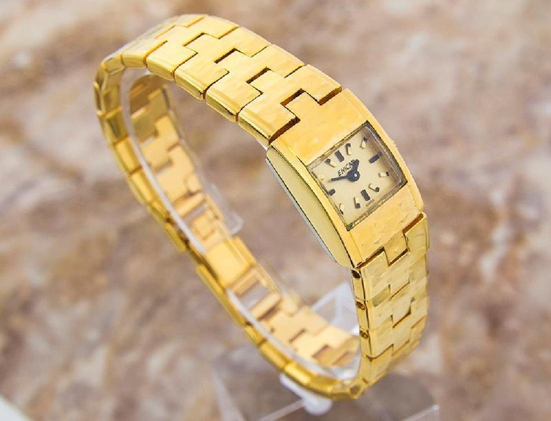 Enicar Vintage Rare Swiss Lady Gold Plated Manual - 4