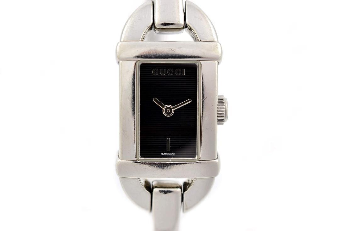 Gucci 6800L Stainless Steel Bangle Quartz Ladies Watch