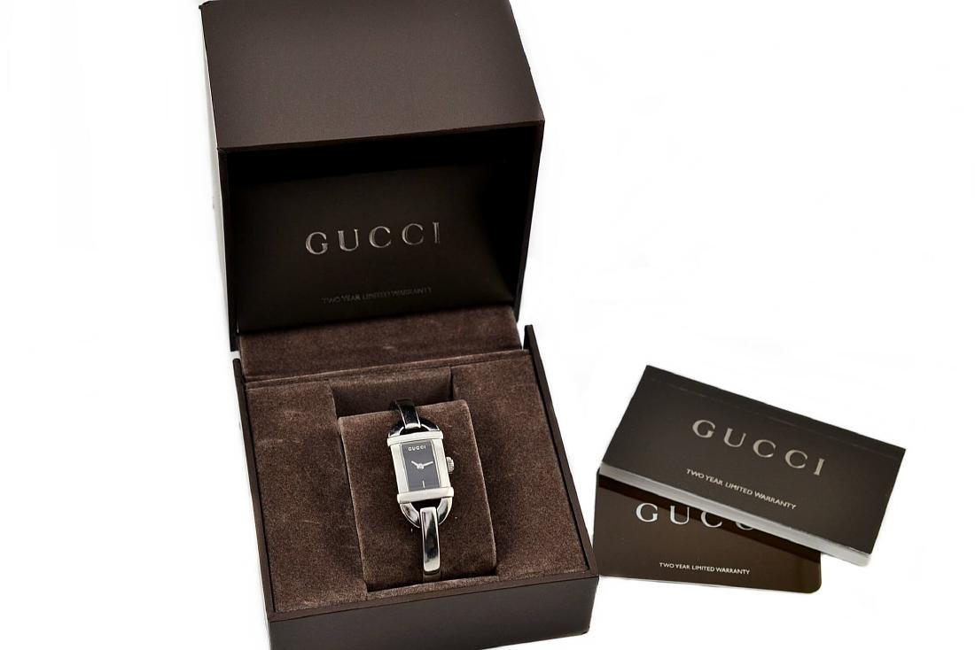 Gucci 6800L Stainless Steel Bangle Quartz Ladies Watch - 4