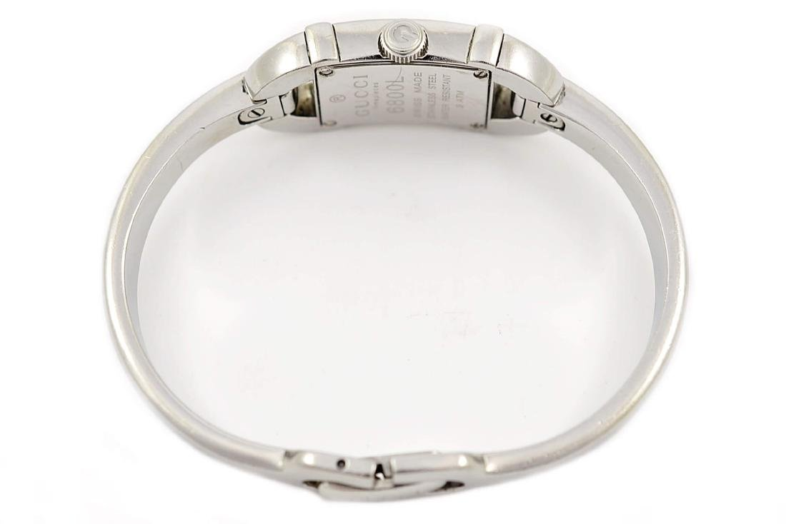 Gucci 6800L Stainless Steel Bangle Quartz Ladies Watch - 6