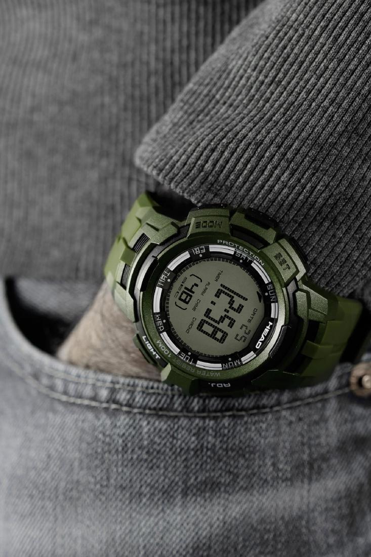 HEAD Super G Green Multifunctional Watch - 10