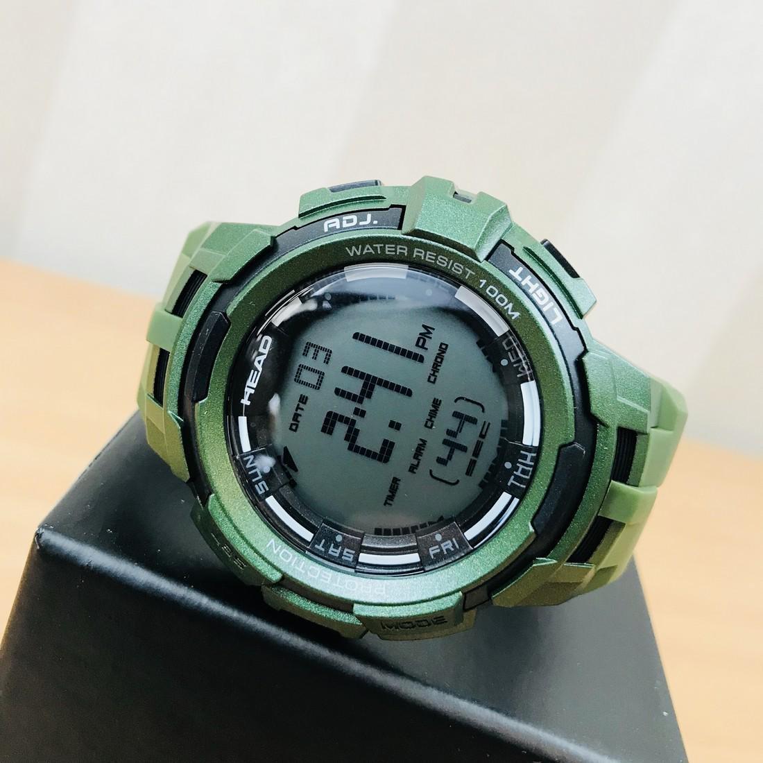 HEAD Super G Green Multifunctional Watch