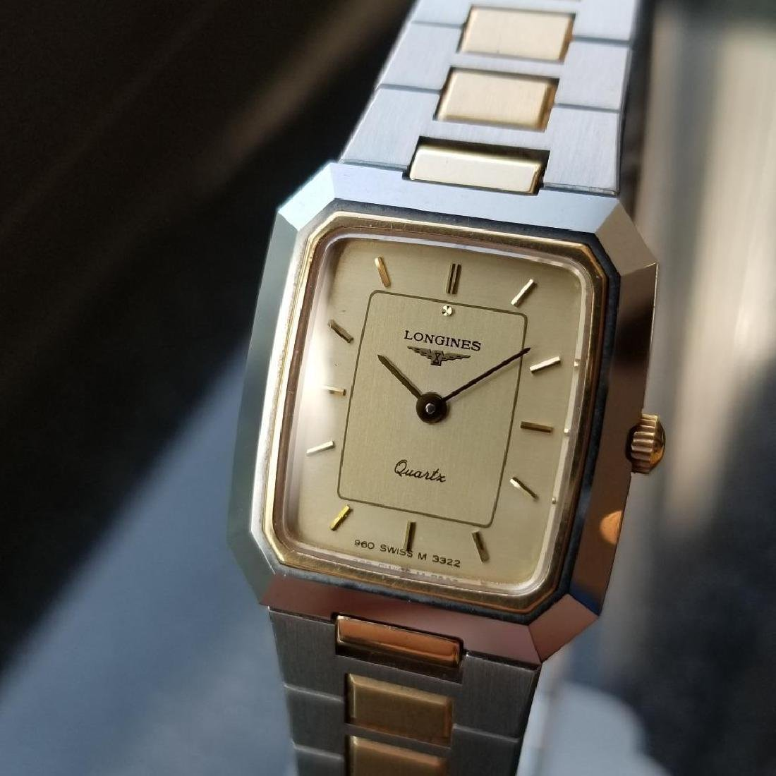 Longines Ladies 1980s Gold Plated Stainless Quartz