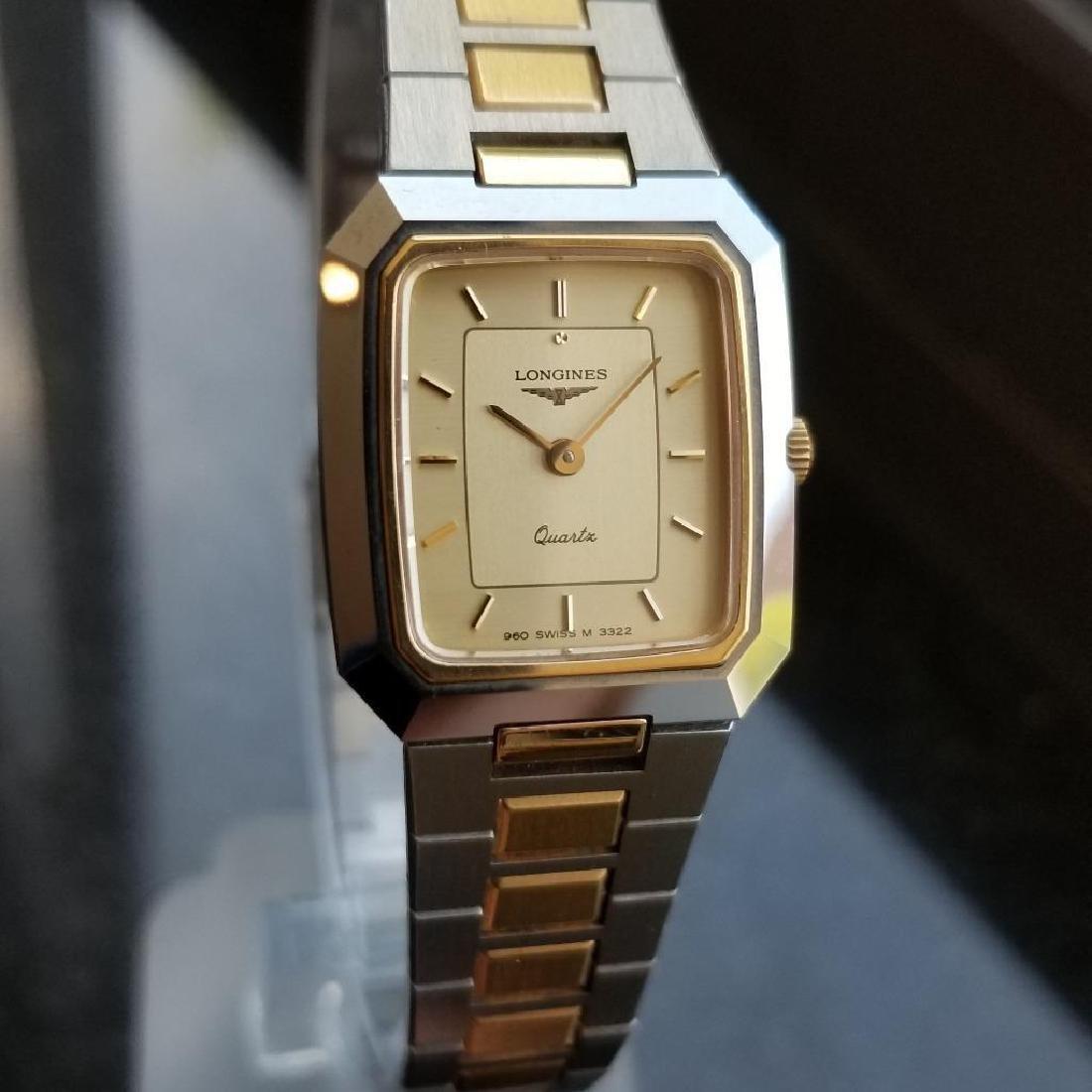 Longines Ladies 1980s Gold Plated Stainless Quartz - 2