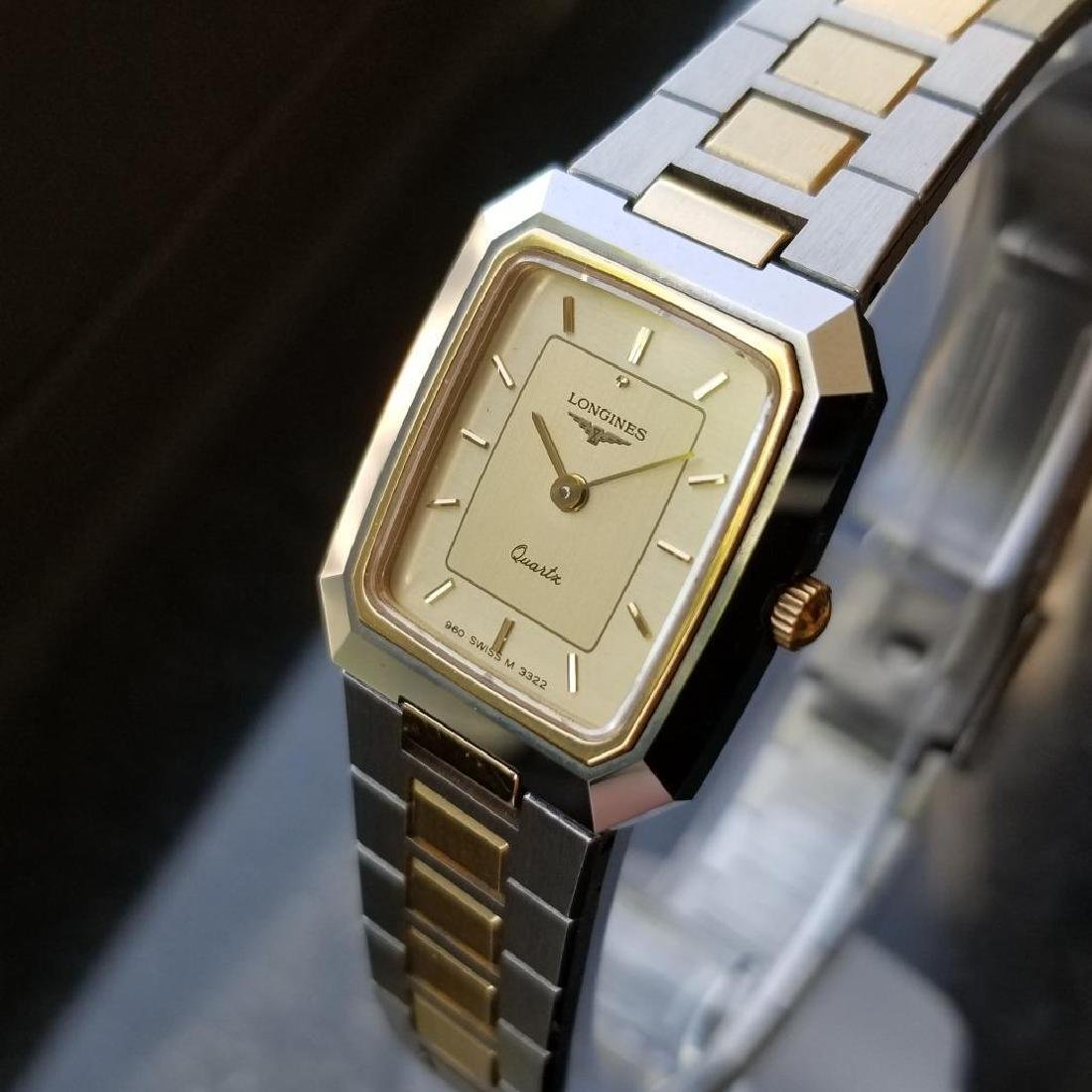 Longines Ladies 1980s Gold Plated Stainless Quartz - 3