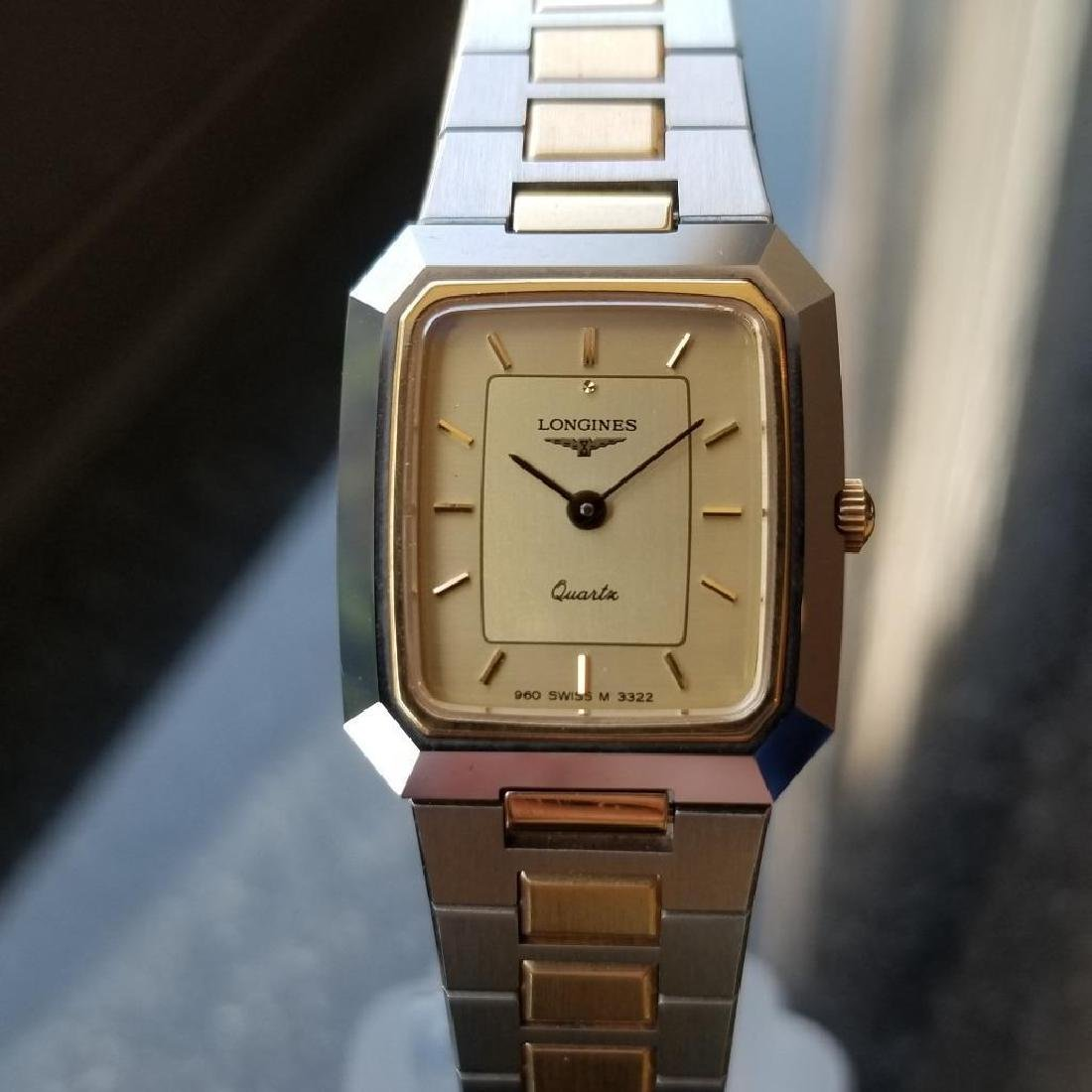 Longines Ladies 1980s Gold Plated Stainless Quartz - 4