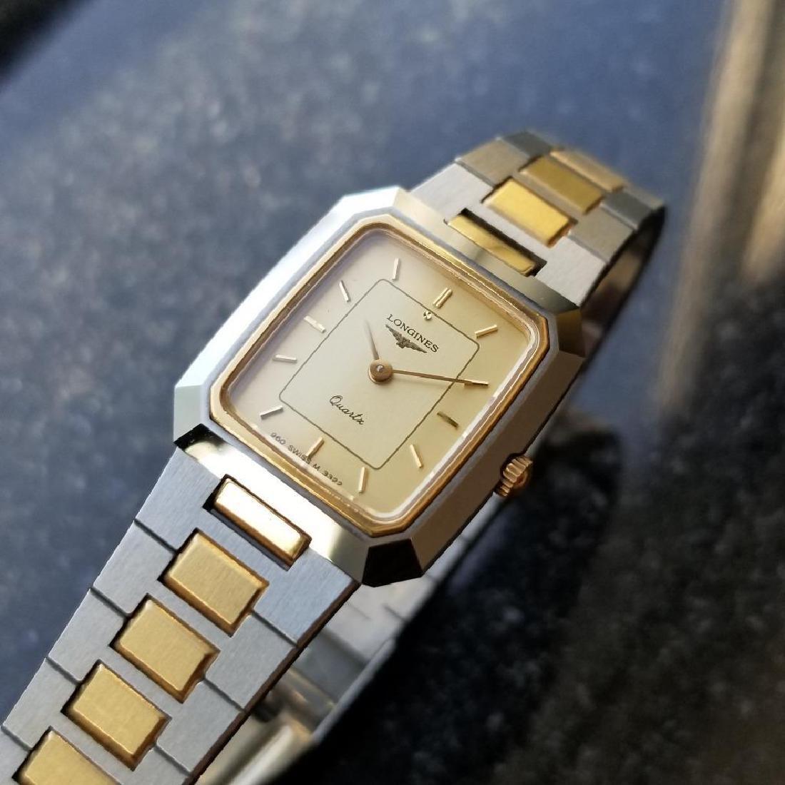 Longines Ladies 1980s Gold Plated Stainless Quartz - 5