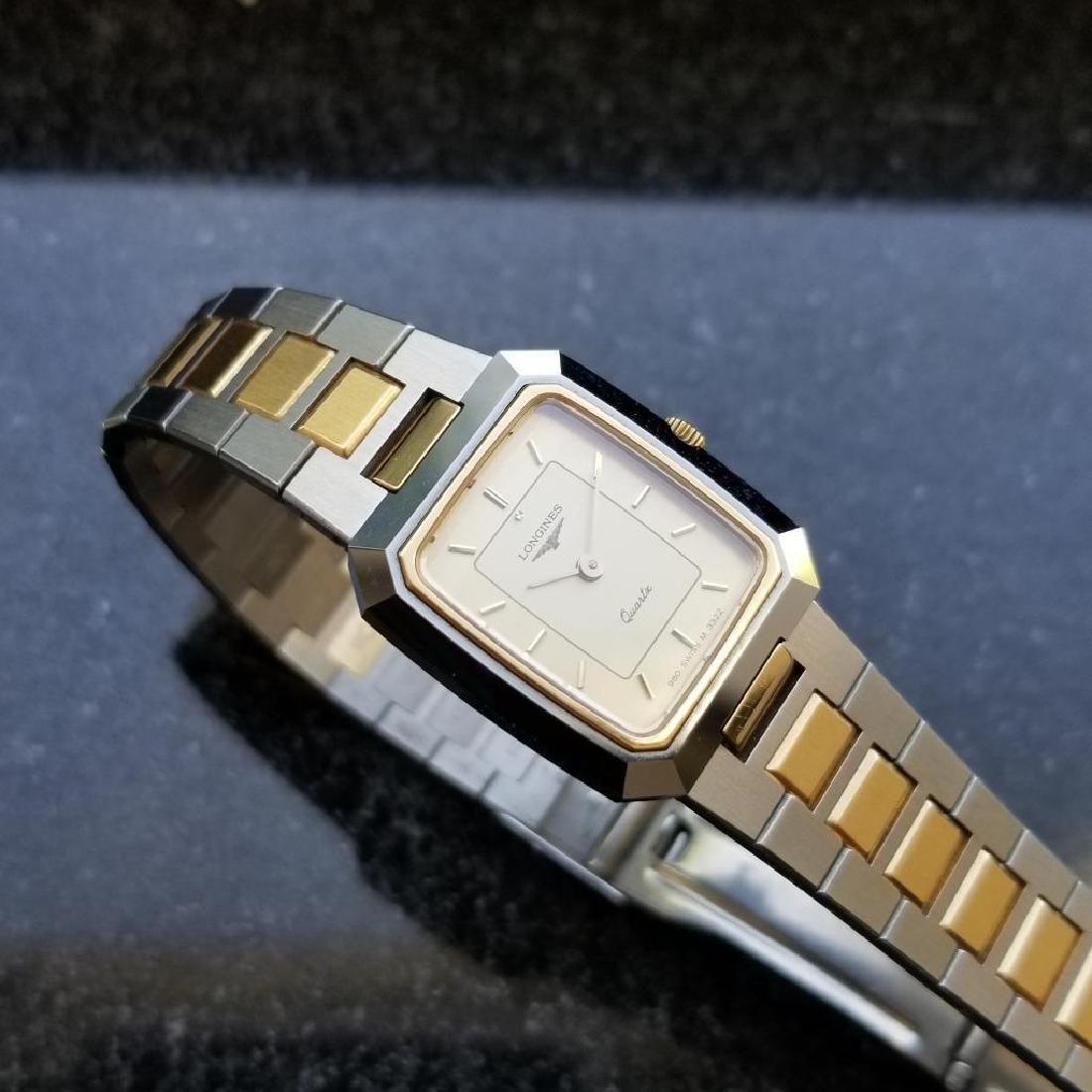 Longines Ladies 1980s Gold Plated Stainless Quartz - 6