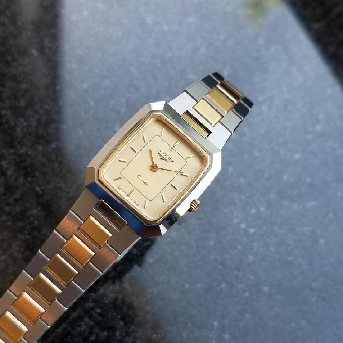 Longines Ladies 1980s Gold Plated Stainless Quartz - 7